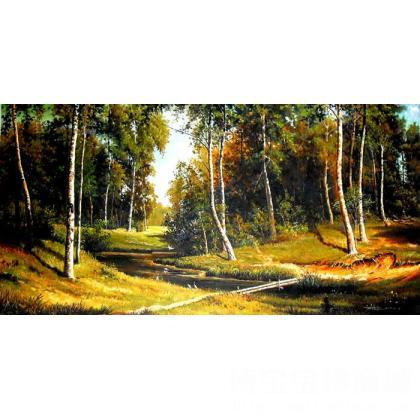 名家 王献锋 国画;油画;书法; - 王献锋 仿俄罗斯风景 类别: 油画x